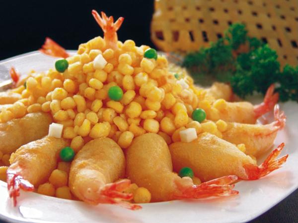 金蛋黄玉米虾