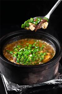 青椒牛筋头焖豆花